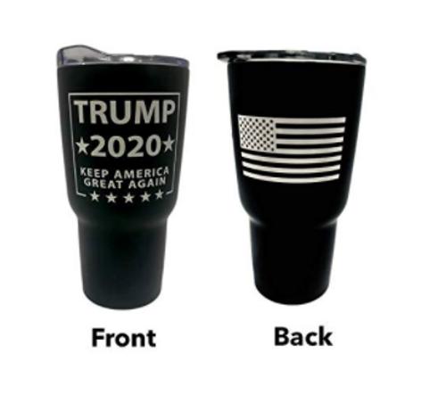Trump 30 oz Double Walled Tumbler Black