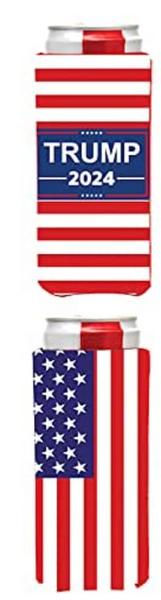 Trump 2024 USA Flag Can Coolie