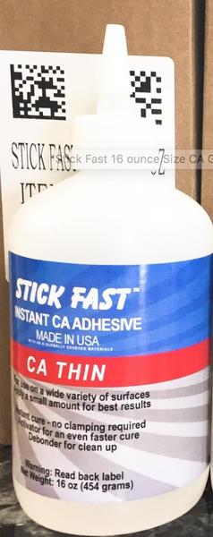 10 pc Case Pk - Stick Fast  16 oz Thin CA GLUE