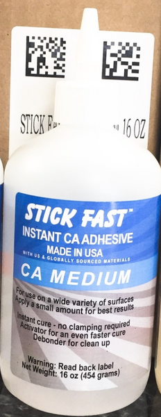 10 pc Case Pk - Stick Fast  16 oz Medium CA GLUE