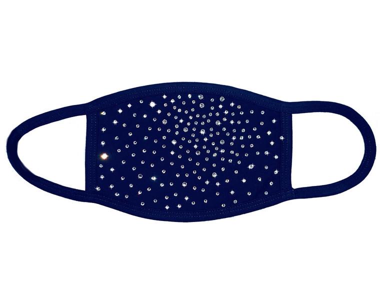 Crystal Scatter Navy Mask (Swarovski)