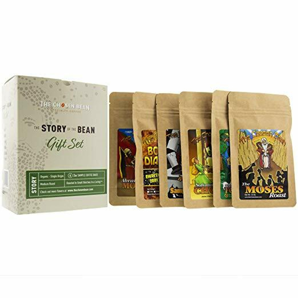 The Chosen Bean Premium Artisan Coffee Story of The Bean Gift Set of 6 Special Coffees