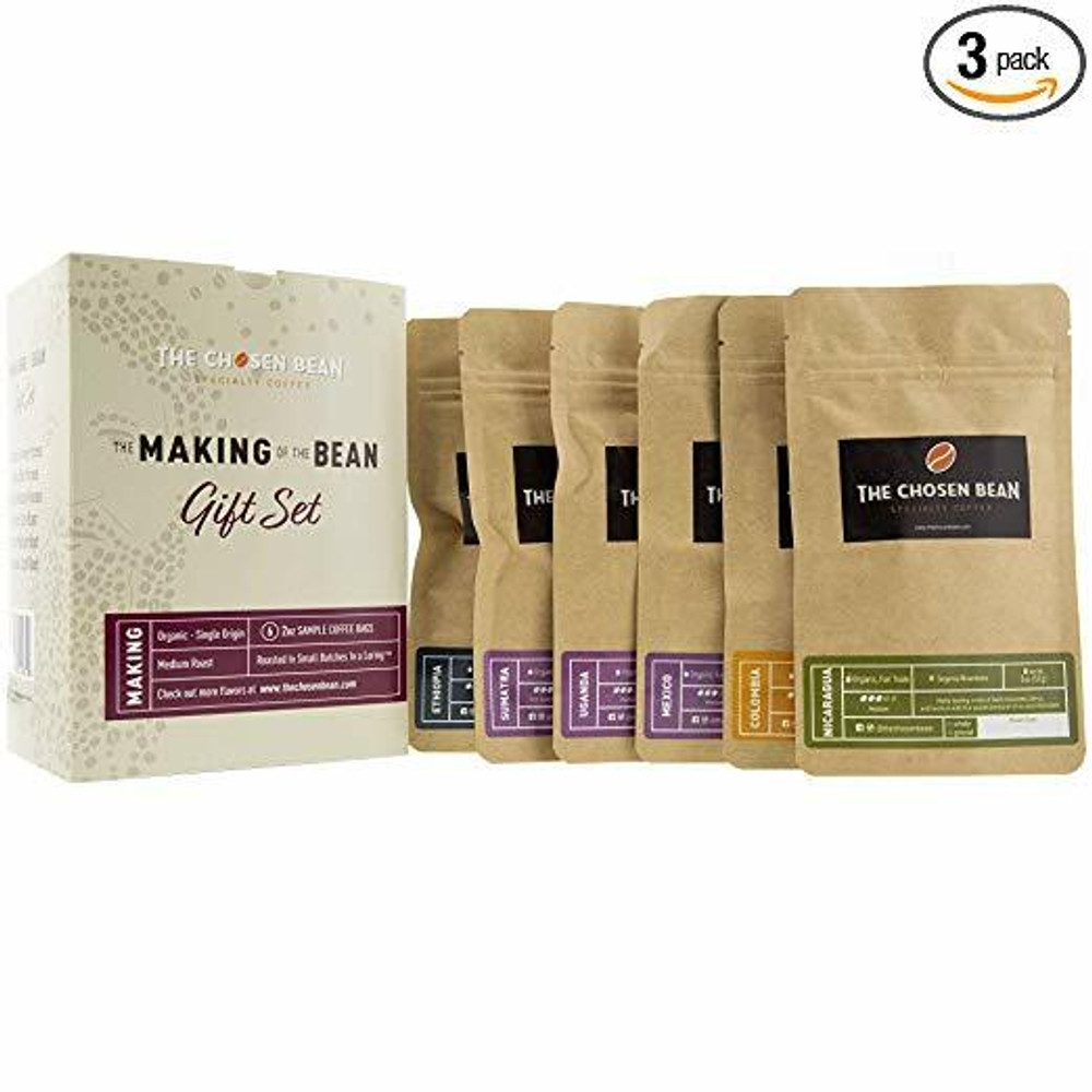 The Chosen Bean Premium Artisan Coffee Making of The Bean Gift Set Includes 6 Special Coffees