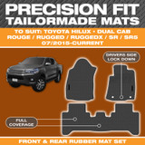 Toyota Hilux Precision Fit Mats 07/2015 - Current