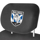 Canterbury Bulldogs NRL Car Headrest Covers