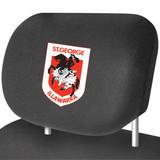 St George Illawarra Dragons NRL Car Headrest Covers