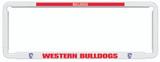 Western Bulldogs AFL Car Number Plate Frames