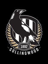 Collingwood AFL Car Headrest Covers