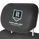 Port Adelaide AFL Car Headrest Covers