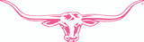R.M.Williams Longhorn Car Sticker Decal 70cm Pink