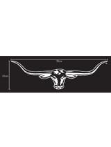 R.M.Williams Longhorn Car Sticker Decal 70cm White