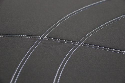 Getaway Neoprene Black - Silver Stitch