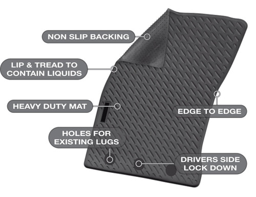 Holden Colorado Precision Fit Mats 11/2013 - Current