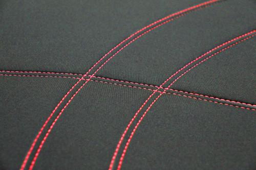 Getaway Neoprene Black - Red Stitch