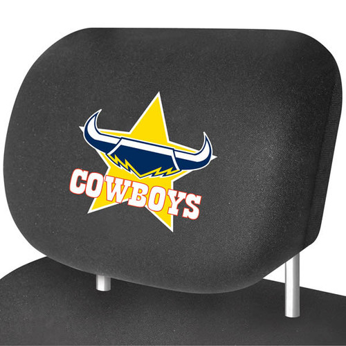 North Queensland Cowboys NRL Car Headrest Covers