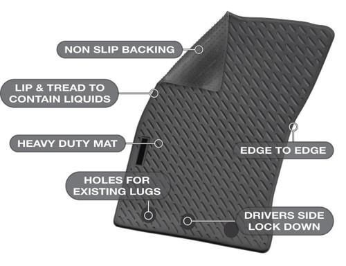 Mazda BT-50 Precision Fit Mats 11/2011 - Current