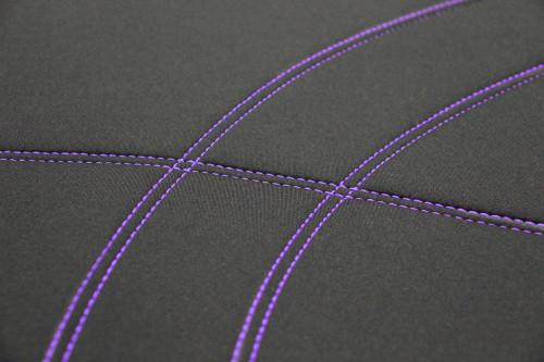 Getaway Neoprene Black - Purple Stitch