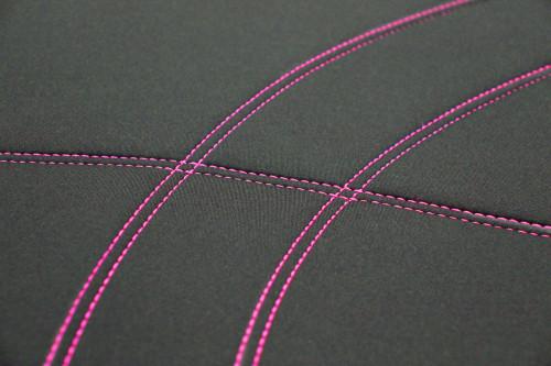 Getaway Neoprene Black - Pink Stitch