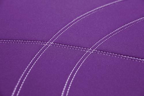Getaway Neoprene Purple - Silver Stitch
