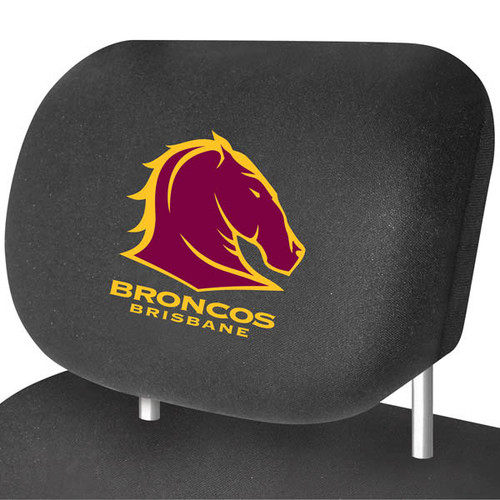 Brisbane Broncos NRL Car Headrest Covers