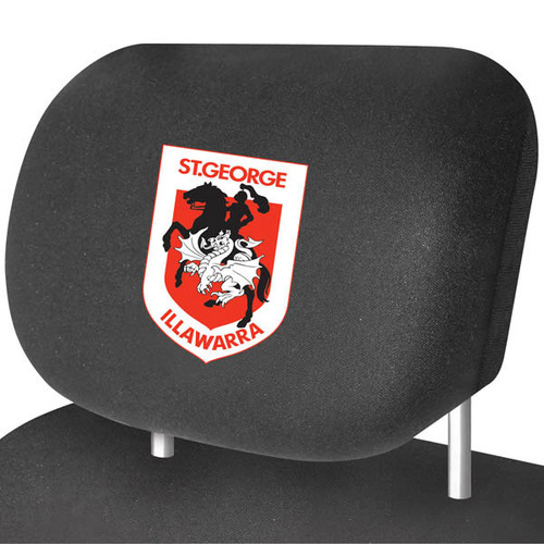 St George Illawarra Dragons NRL Car Headrest Covers