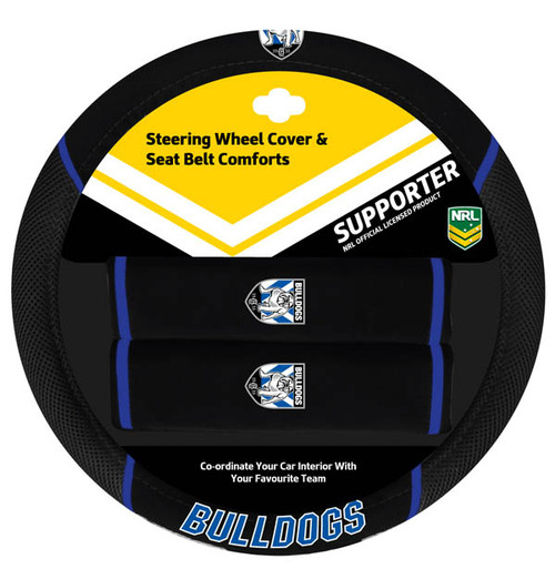 Canterbury Bulldogs NRL Steering Wheel And Seat Belt Comforts