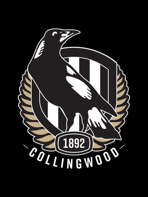Collingwood AFL Steering Wheel And Seat Belt Comforts