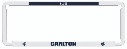 Carlton AFL Car Number Plate Frames