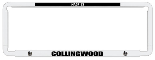 Collingwood AFL Car Number Plate Frames
