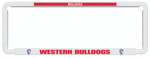Western Bulldogs AFL Car Number Plate Frame
