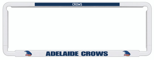 Adelaide Crows AFL Car Number Plate Frame