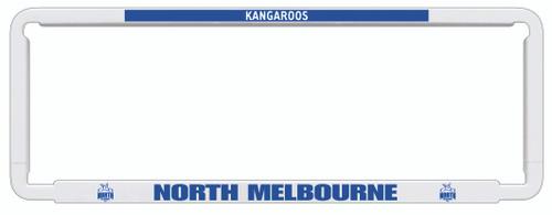 North Melbourne AFL Car Number Plate Frame