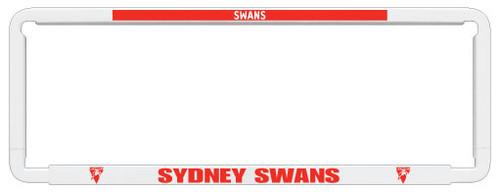 Sydney Swans AFL Car Number Plate Frame