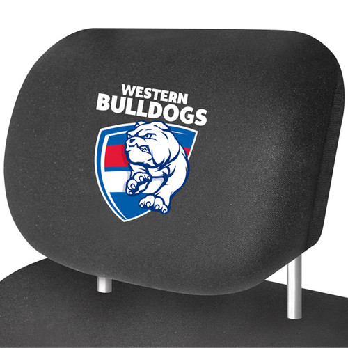 Western Bulldogs AFL Car Headrest Covers