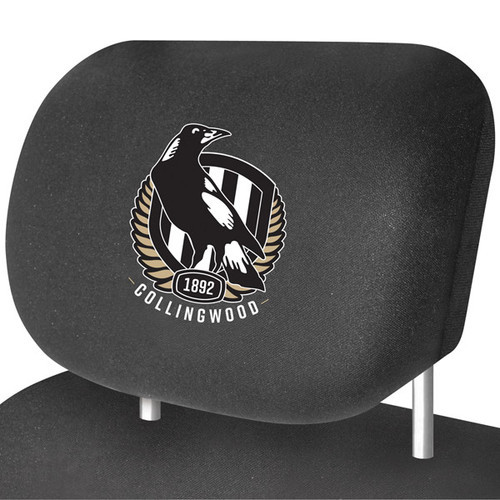 Collingwood AFL Car Headrest Covers