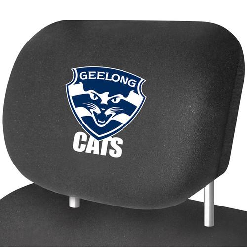Geelong AFL Car Headrest Covers