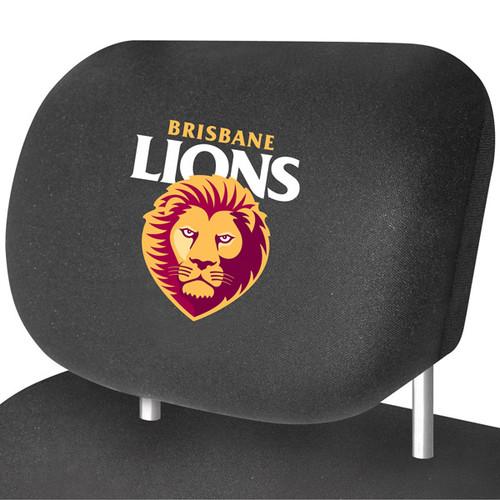 Brisbane Lions AFL Car Headrest Covers