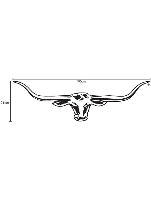 R.M.Williams Longhorn Car Sticker Decal 70cm Black