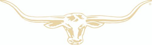 R.M.Williams Longhorn Car Sticker Decal 70cm Bone