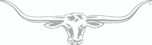 R.M.Williams Longhorn Car Sticker Decal 70cm Silver