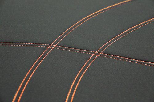 Getaway Neoprene Black - Orange Stitch