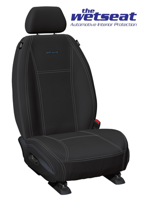The Wetseat Neoprene Black -Charcoal Stitch - Console Cover Incl.