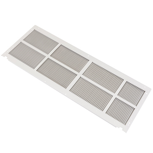 Amana SGK01TB Vertically Louvered Stamped Aluminum Exterior Grille - Stonewood Beige