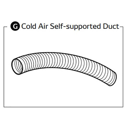 MovinCool 481744-0090 Cold Air Self Supported Duct, 1 Duct