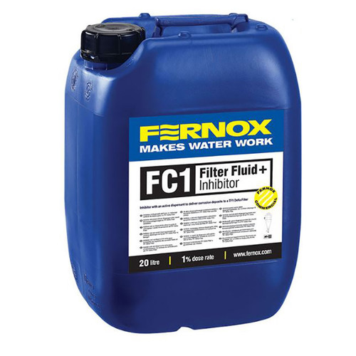 Fernox 62225 FC1 Inhibitor And Filter Fluid, 5 Gallons, Treats 500 Gallons