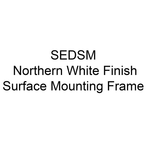 QMark SEDSM Northern White Finish Surface Mounting Frame