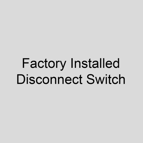 Modine 63472 Factory Installed Disconnect Switch