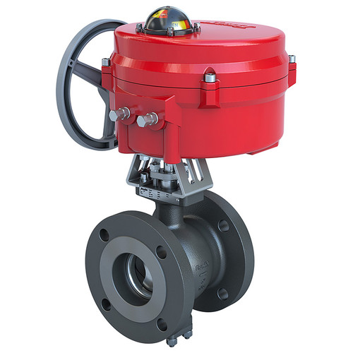 Picture Shown Is A Bray BVMS 2-Way Industrial Ball Valve With 70 Series Actuator