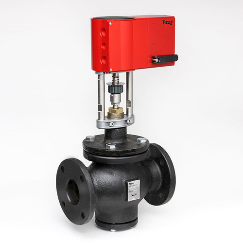 Picture Shown Is A Bray DG 2 Way Globe Valve With GA Series Actuator