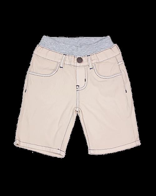 Twill Shorts - Beige Garment Dyed